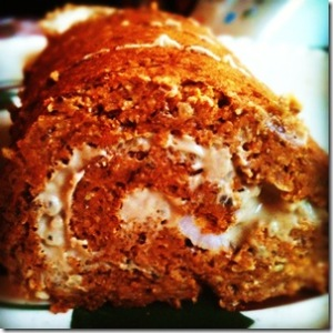 healthy pumpkin roll