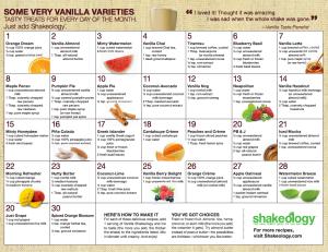 Vanilla-Shakeology-Recipe-Calendar